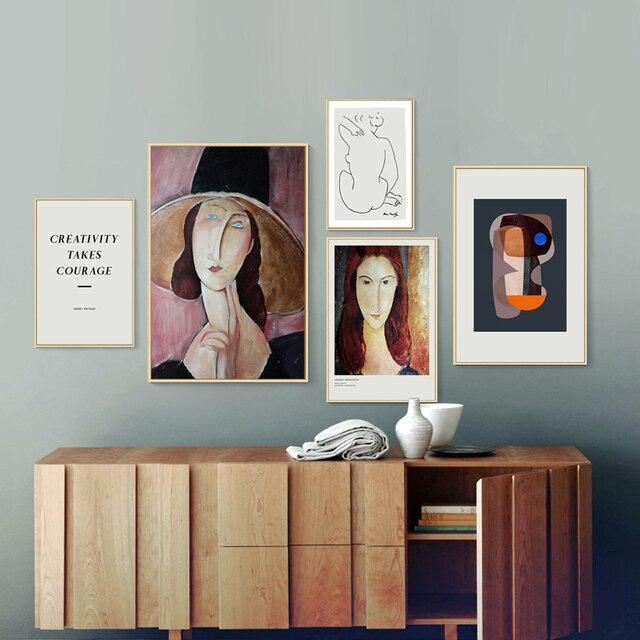 Scandinavia Abstract Figure Prints Poster Canvas Printings Paintings