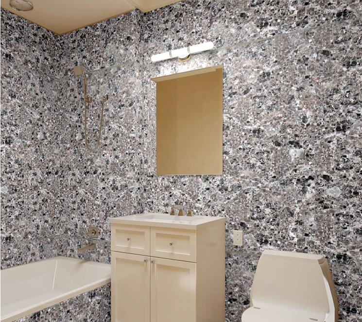 Stone Wallpaper Modern Pvc Imitation Marble Waterproof Bathroom Wall Decor In Wallpapers From Home Improvement On Aliexpress