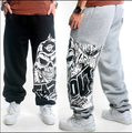 New Arrival Men's Spring and Autumn Hiphop Trousers Loose and Plus Size Fashion Skull Print Long Pants
