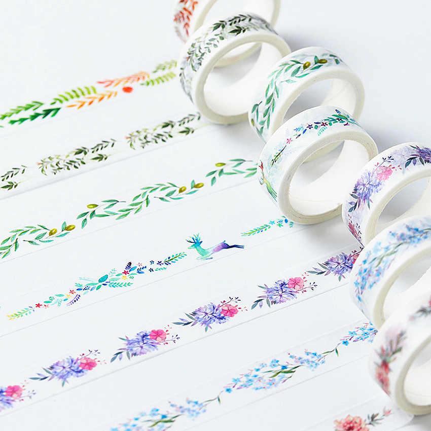 Nuevo hermoso como sueño Lotkawaii flor animales decorativos Washi Tape DIY Scrapbooking Tape enmascarar material de oficina escolar
