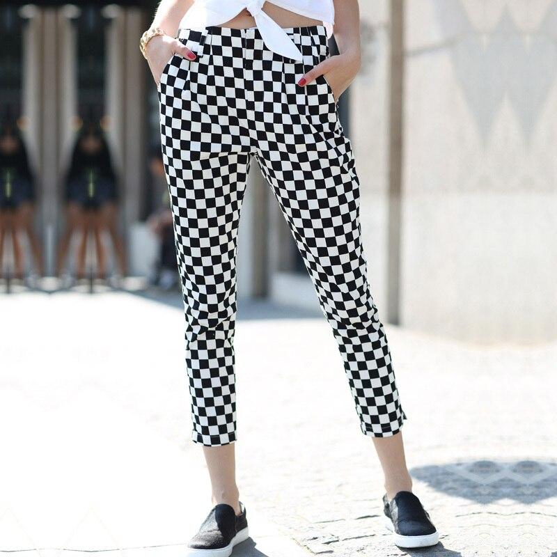 Online Buy Wholesale women plaid pants from China women plaid ...