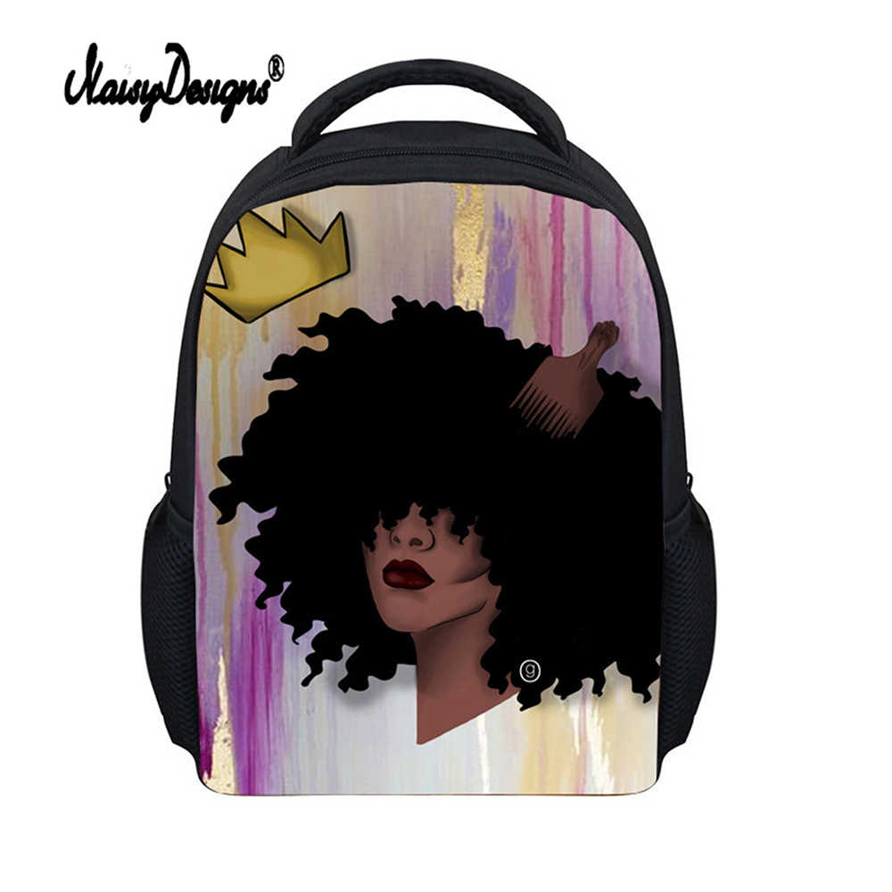 166b306698 2018 School Bags For Girls Cute African Princess Print Anime Satchel  Toddler Backpack Childrens School Bags