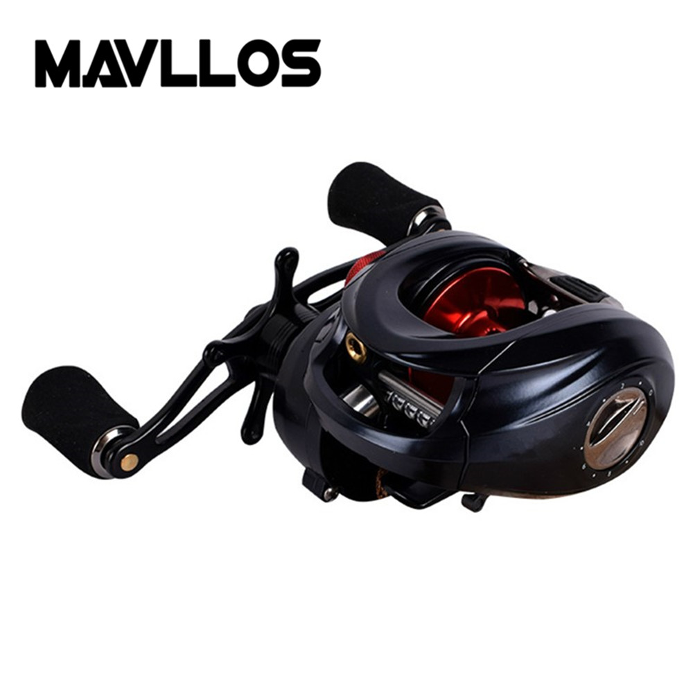 Mavllos Fishing Reel Drag Power 10kg Bait Fishing Reel 11BB Large Profile Spool Fishing Reels Full Metal Baitcasting Reel trulinoya full metal body baitcasting reel 7 0 1 10bb carbon fiber double brake bait casting fishing reel max drag 7kg