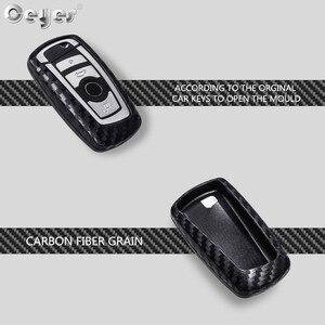 Image 2 - Ceyes רכב סטיילינג אוטומטי סיבי פחמן מפתח כיסוי מעטפת מקרה עבור Bmw חדש 1 3 4 5 6 7 סדרת F10 F20 F30 חכם 3 כפתורי אביזרים