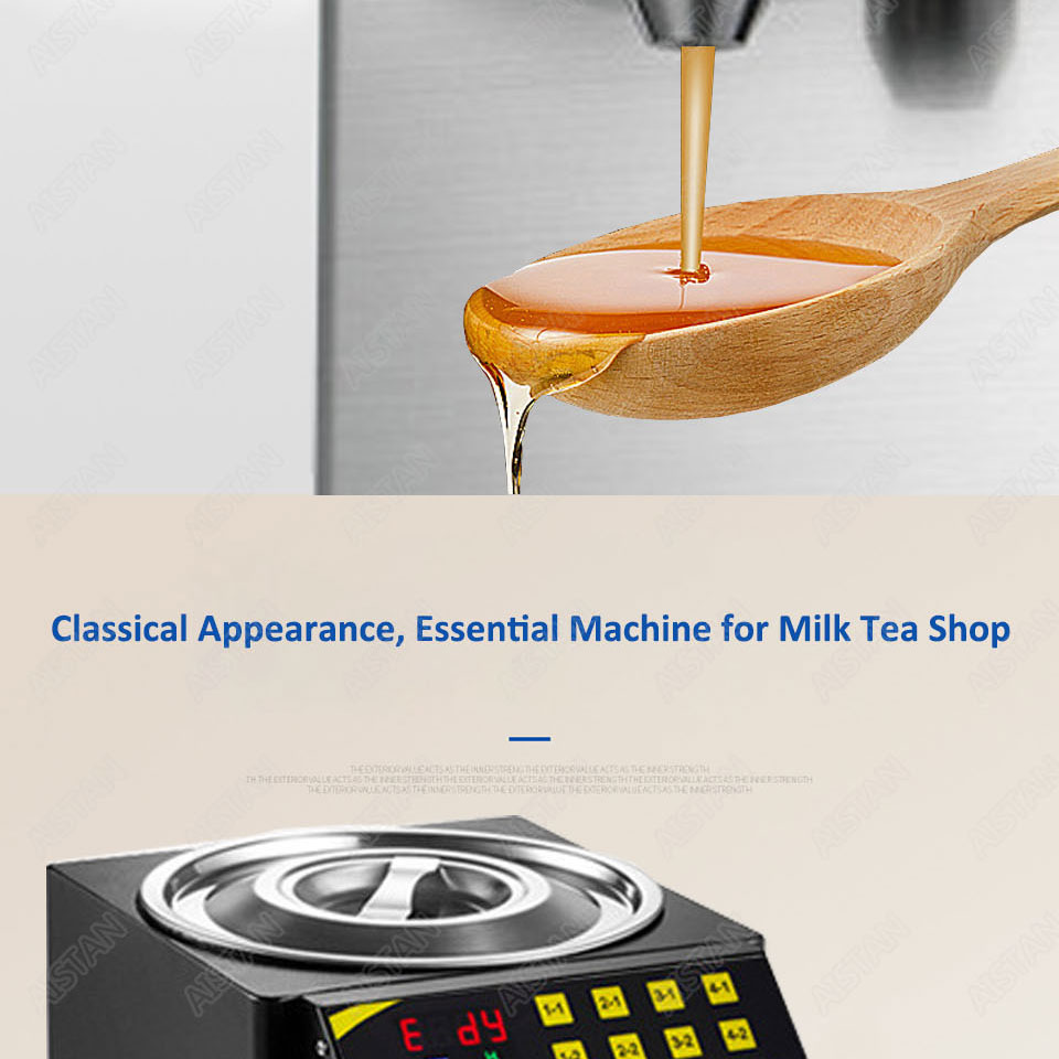 RC16 8L stainless steel commercial fructose quantitation machine for milk tea shop and coffee shop 8