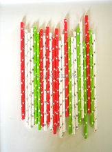 300pcs Gold,Silver,Red and Apple Green Star Paper Straws,Party Wedding Birthday Supplies Paper Drinking Straws wholesale