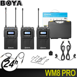 BOYA BY-WM8 Pro UHF mic condenser Wireless Mic Microphone Audio Video Recorder Receiver for osmo mobile 2 accessories dji pocket