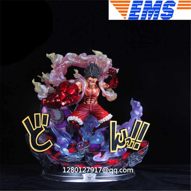 Anime One Piece GK Monkey D Luffy Gear Fourth PVC Figure Toy In Box 28cm Limited