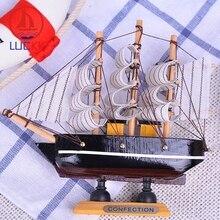 цены на LUCKK 14CM DIY Wooden Model Ship Black Home Interior Offica Decoration Loft Wood For Crafts Sea Model Nautical Gift Souvenir в интернет-магазинах