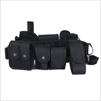 With 10 in 1 Multifunctional outdoor Belts Training Military Police Security Oxford Modular Equipment Black Tactical duty belt