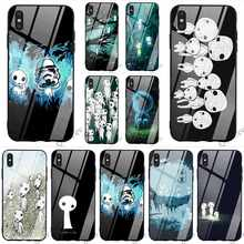 Protective Kodama Spirit Tempered Glass Phone Cover for iPhone 5S Case XR X 7 5 8 Plus 6 6S SE Xs Max 11 pro Backshell(China)