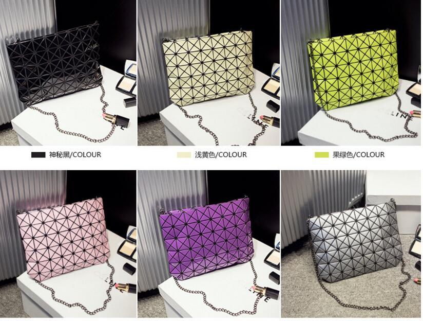 18 Famous Bao Bags Women Geometric Lingge Envelope Handbag Small Chain Clutch Ladies Shoulder Bags Messenger Bag Bao Bolsa 11