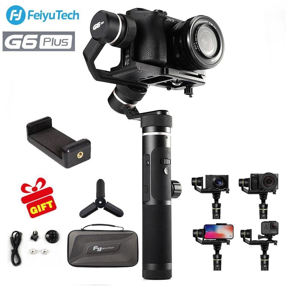 FeiyuTech Feiyu G6 плюс брызг ручной Gimbal стабилизатор для смартфонов Gopro hero беззеркальных камер sony as6000