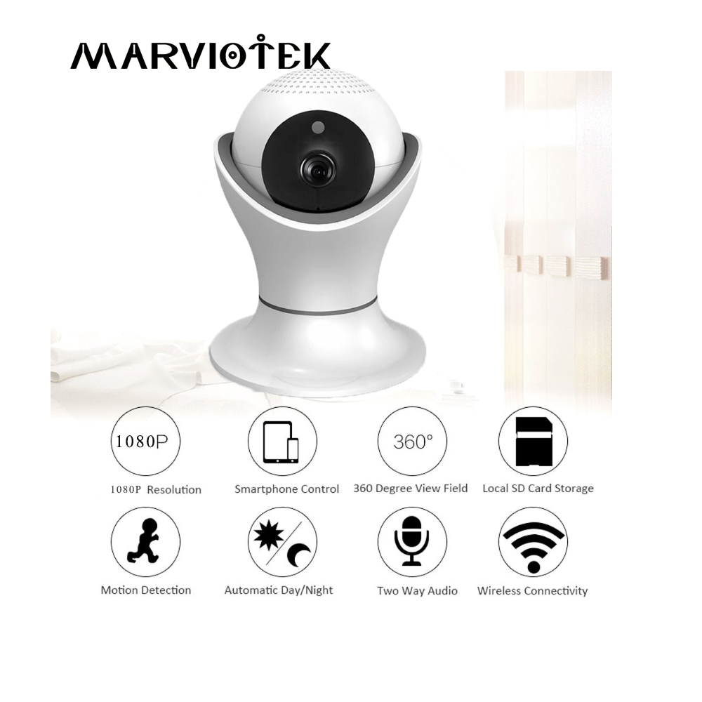 MARVIOTEKIP 960P IP Camera Wi-fi World Cup Wireless Surveillance Night Home Security Vis ...