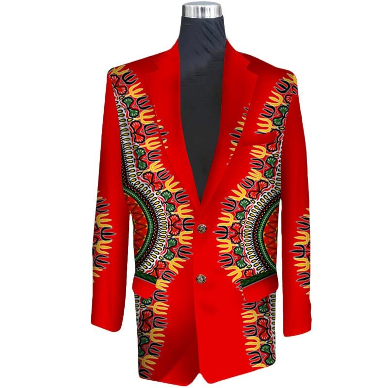 2019 traditionnel africain élégant mode hommes costume manteau hommes impression africaine Dashiki pour hommes vêtements