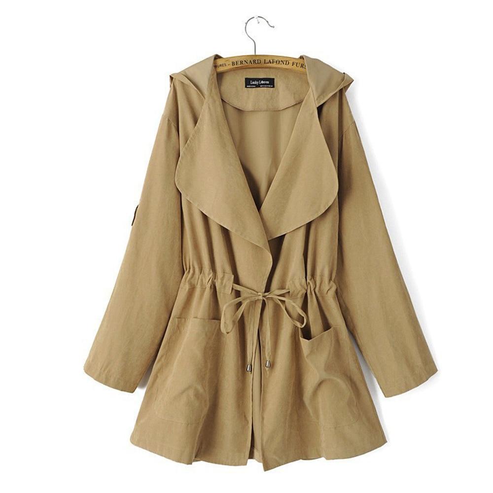 Jocoo Jolee Casual Windbreaker for Women Autumn Loose Thin Jacket Elastic Korean Version   Coat   Retro Outwear 2018 New Fashion
