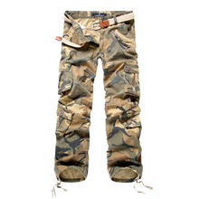 Mens Military Cargo Pants Men Camouflage Cargo Pants Male 2019 Spring Camo Pants Men's Outdoor Trousers With Pockets multi pockets drawstring cuff camo cargo pants