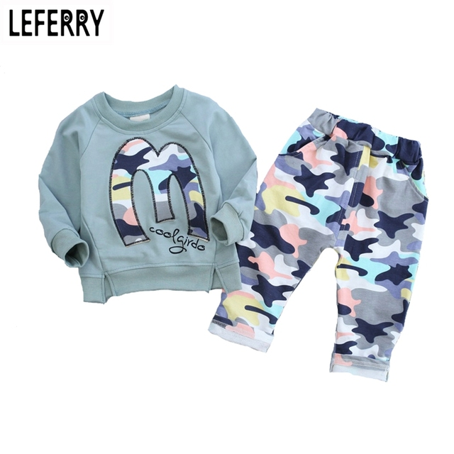 3color Kids Clothes Boys Girls Clothing Set Baby Toddler Girls Clothing Children Tracksuit Kids Hip Hop Clothing Spring 2016 New