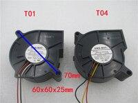 2PCS BM6025 04W B49 0.26A 12V NEW fan for NMB MAT NMB BM6025 04W B59 0.18A 6025 6CM turbine turbo Blower Projector cooling fan