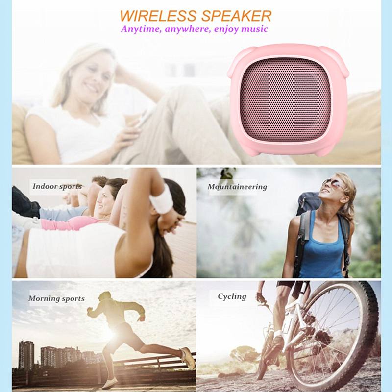 Image 5 - pink pig portable speaker bluetooth sound box column mini speaker talking biuetooth music center home theater soundbar caixa de-in Portable Speakers from Consumer Electronics
