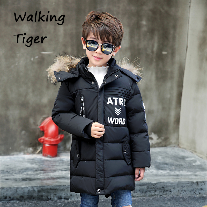 Boys winter Down jacket clothing coat children tops Keep warm boy Outerwear Parkas 2017 new