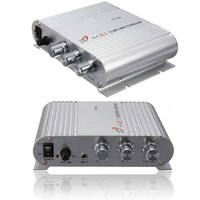 12V bass amplifier Mini HiFi CD MP3 Radio Car Auto Motorcycle Home Audio Stereo Bass Speaker amplifiers Boostrer Player 12V