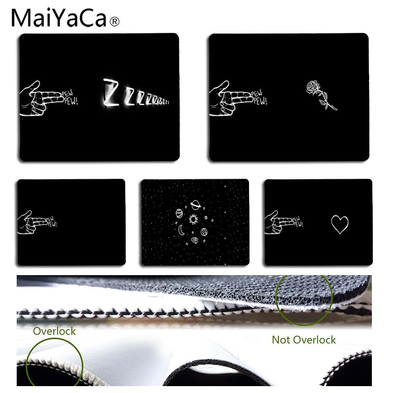 MaiYaCa New Printed Cool Finger PEW Customized laptop Gaming mouse pad Size for 180*220*2mm and 250*290*2mm Mousepad