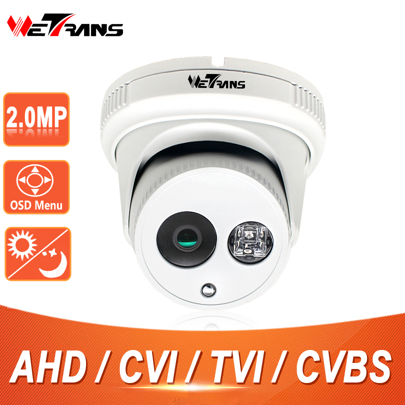 Camera AHD 1080P HD SONY IMX323 2.8mm Wide Angle Lens Vandalproof 20m IR Night Vision Home Security Indoor Dome Camera CVI TVI