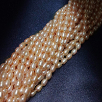 ZHIXI Genuine Freshwater Pearl Beads For Jewelry Making Fine Jewelry Rice Natural Stone Bead DIY Accessories