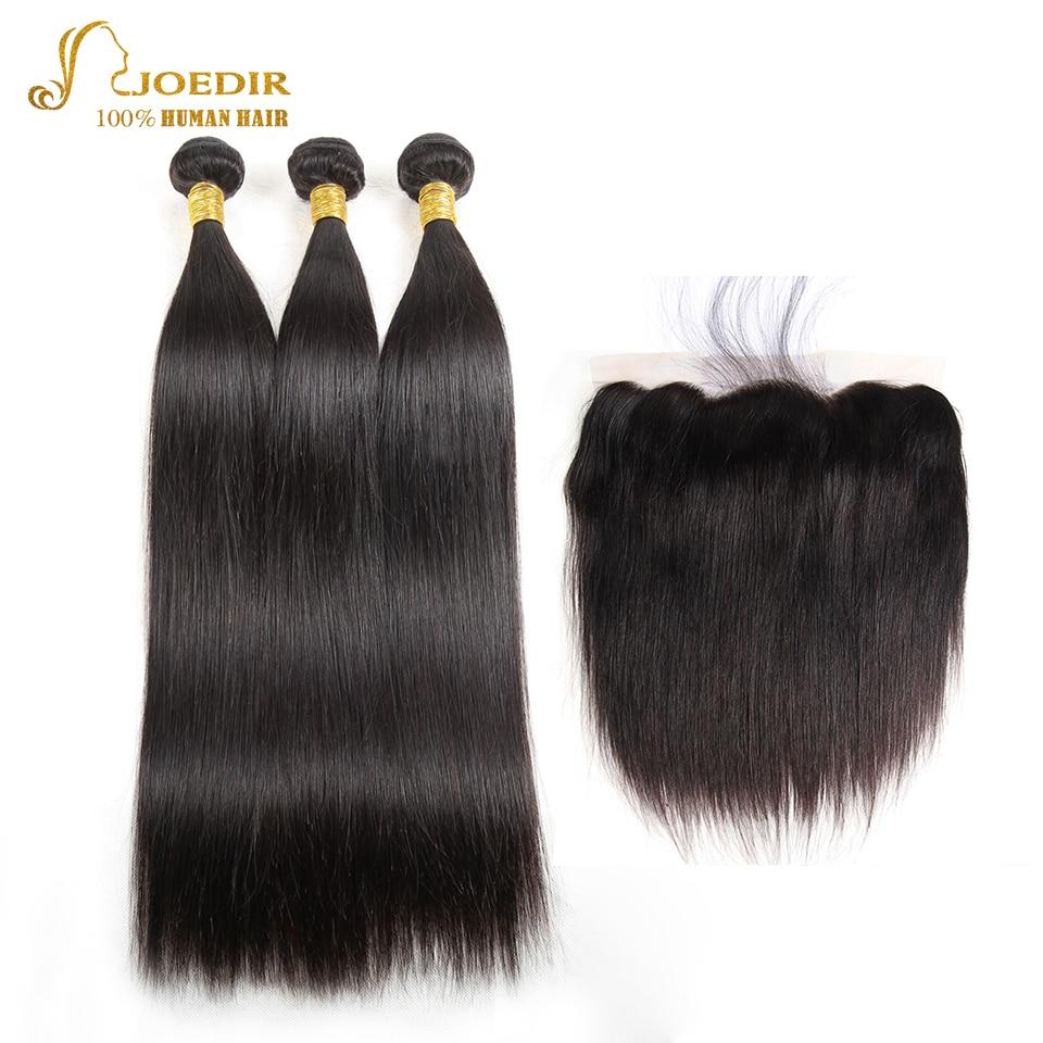 Joedir Straight Hair Bundles Med Stängning I 3/4 Bundlar Non Remy - Skönhet och hälsa - Foto 2