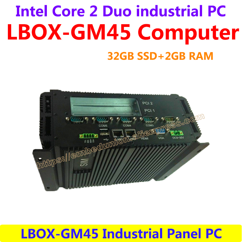 LBOX-GM45 Intel Core 2 Duo P8600/P8700 32GB SSD 2GB RAM Industrial Panel Computer Low Power High Performance(LBOX-GM45 Computer)