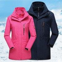 Для мужчин Для женщин 3 в 1 вянут флис Пеший Туризм куртка ветрозащитный треккинг Восхождение Лыжный Спорт Windcoat сноуборд рыбалка куртка с ка