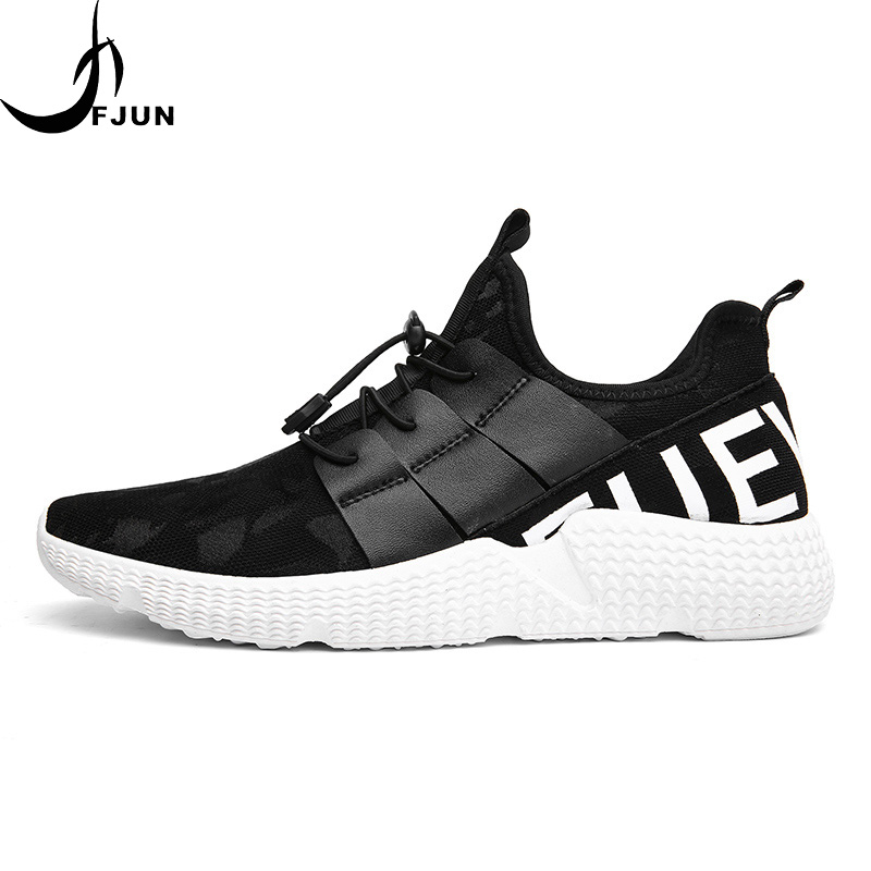 2018 FJUN Running Shoes For Men Fly Weave Mens Trainers Walking Sport Gym Shoes Air Mesh Breathable Jogging Sneakers RZ26