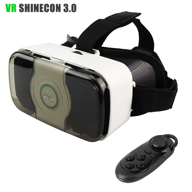 Shinecon 3.0 VR 3D Glasses Virtual Reality Head Mount Mobilephone Helmet Google Cardboard with Front Cover For 4.7-6' Phone