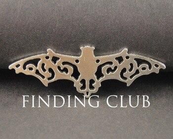 20 pcs Antique Silver Bat Charm Pendants DIY Metal Jewelry A762