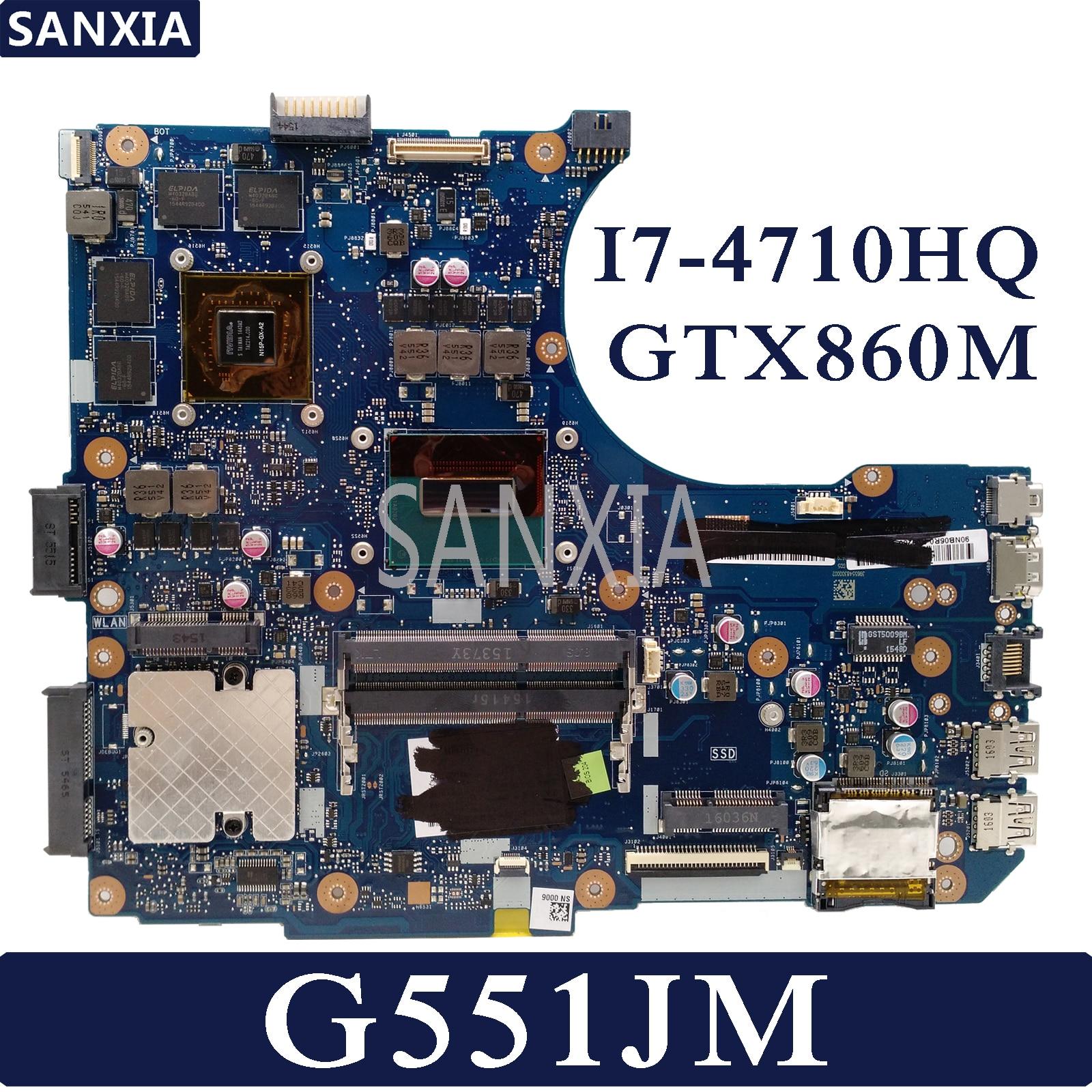 KEFU N551JM Laptop Motherboard For ASUS ROG G551JM G551JW G551JK N551JK N551JW Test Original Mainboard I7-4710HQ GTX860M