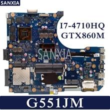 KEFU N551JM Laptop motherboard for ASUS ROG G551JM G551JW G551JK N551JK N551JW Test Original Mainboard I7