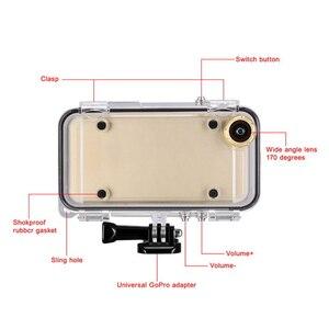 Image 4 - Toque mergulho caso do telefone móvel sacos de armazenamento toque à prova dwaterproof água para gopro hero programa 170 graus lente grande angular para iphone
