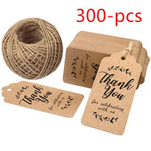 Kraft paper gift tag Thank You for Celebrating with Us Tags 100 Feet Natural Jute Twine Perfect Wedding and Party Decor