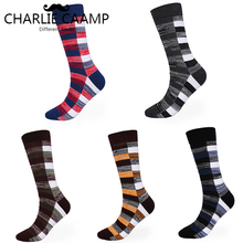 charlie caamp 5Pairs/lot Autumn/winter Cotton Large Color Contrast Socks