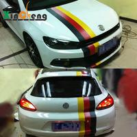 Boby Car stlying German Flag Hood Roof and Rear Garland Reflective Car Stickers for VW Scirocco Golf 7 POLO CC GTI