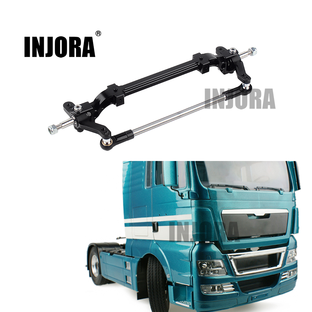 INJORA 1PCS Metal Front Axle With Steering Link For 1/14 Tamiya Tractor Truck RC Car Parts