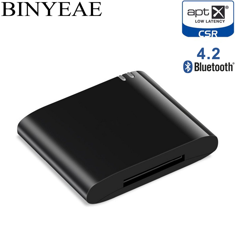 30Pin Bluetooth 4.2 Aptx Low Latency 30 Pin Stereo Audio Adapter Music Receiver For Bose SoundDock II 2 IX 10 Portable Speaker