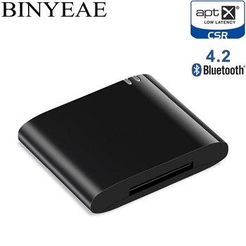 30pin Bluetooth 4.2 Aptx 低レイテンシ 30 ピンステレオオーディオアダプタ音楽レシーバー Bose II 2 IX 10 ポータブルスピーカー