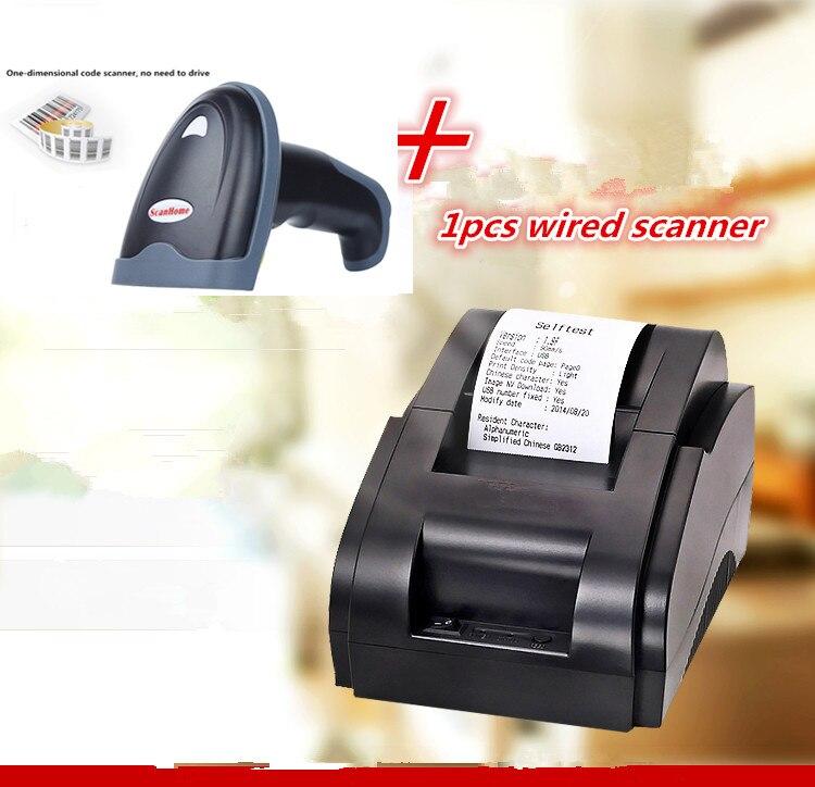 Regalo 1 Uds 1D escáner con cable + negro de alta calidad 58mm impresora térmica de recibos velocidad de impresión 90 mm/s interfaz USB Einkshop 1pc para hermano J430 cabezal de impresión para Hermano, 5910, 6710, 6510, 6910 MFC-J430 MFC-J725 MFC-J625DW MFC-J625DW cabeza de impresión