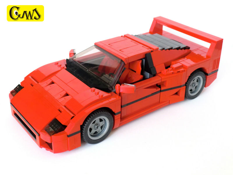 Compatible LegoINGlys Technic Series Class Sports Car F40 1158pcs Elementary Education Building Blocks Toy For Children Gift lego education 9689 простые механизмы