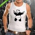 2017 новое поступление мужчины/женщины майка Бэнкси Panda Мужская Новый Животных Funny Face Майка Футболки Guns Жилет моды deisgn печати теэ