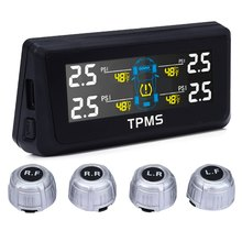 Universal TPMS Solar Power Digital Monitor Internal Sensor LCD Digital Screen Tire Pressure Monitor System Wireless Waterproof