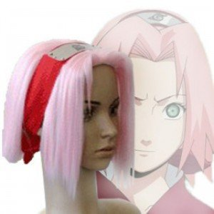 Japan Anime Naruto Shippuden Sakura Haruno short pink heat resistant fiber Cosplay Wigs Party wigs universal 360 degree rotatable car swivel mount holder w usb car charger black