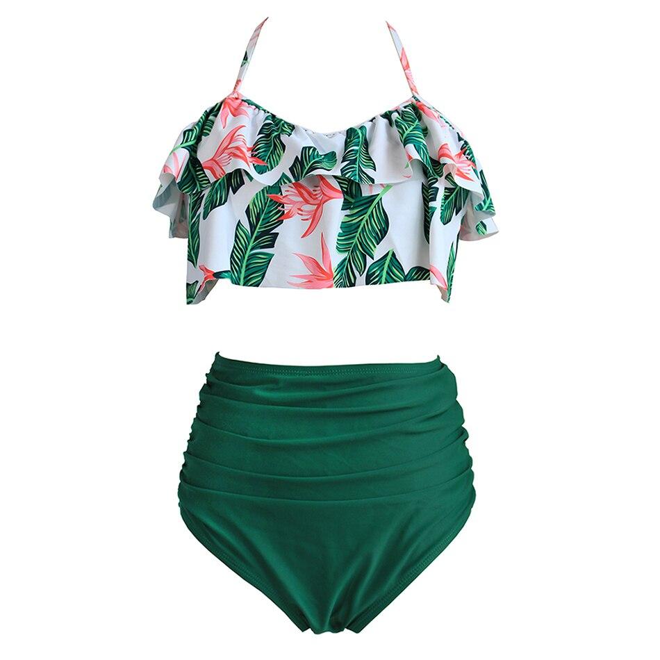 Taille haute Bikini Sexy 3XL Maillot de Bain Femelle 2018 Plus La Taille Maillots De Bain Femmes Brésilien Push Up Bikinis Ensemble De Natation pour la Baignade costume